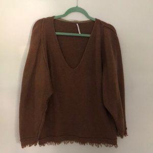 Nutmeg Brown Freepeople Cozy Sweater